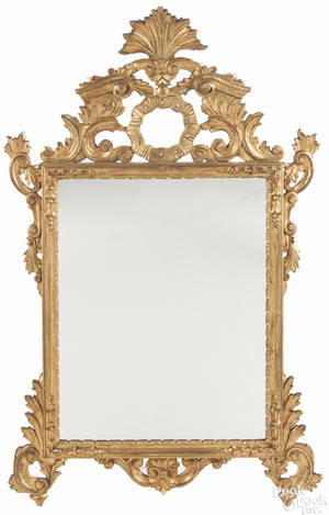 French giltwood mirror ca 1800