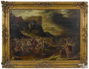 Manner of Frans Francken oil on panel 17th c