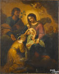 Continental oil on canvas of the Holy Family 18th c