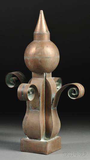 Scrolled Copper Architectural Finial