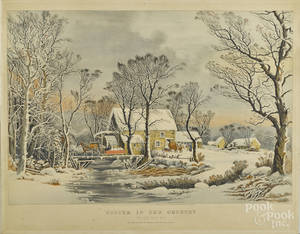 Early Currier and Ives restrike