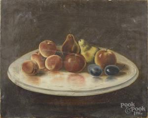 American primitive oil on canvas still life