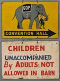 Painted Sheet Iron GOP Convention Hall Sign
