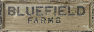 Painted sign for  Bluefield Farms