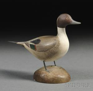 Jess Blackstone Carved and Painted Miniature Pintail Duck Figure