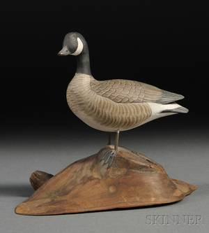 Jess Blackstone Carved and Painted Miniature Canada Goose Figure