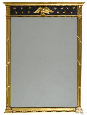Federal style giltwood mirror
