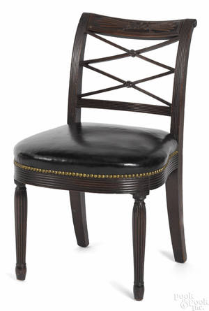 New York Sheraton mahogany dining chair ca 1815