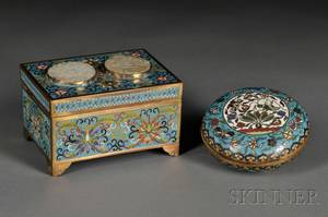 Two Cloisonne Covered Boxes