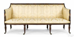 New York Sheraton mahogany sofa ca 1815