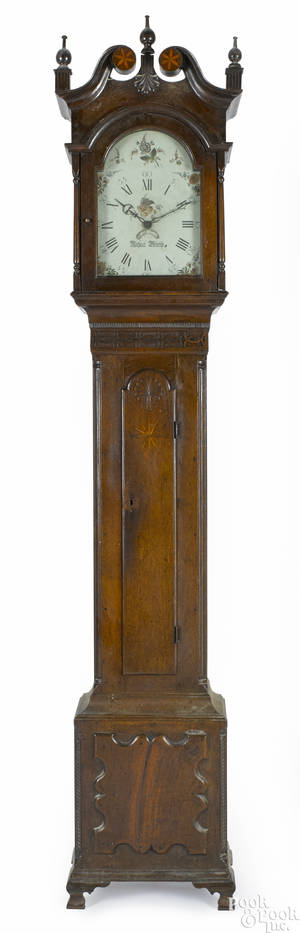 Pennsylvania Chippendale walnut tall case clock ca 1800