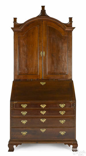 New Jersey Chippendale cherry secretary desk late 18th c