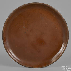Pennsylvania redware charger 19th c