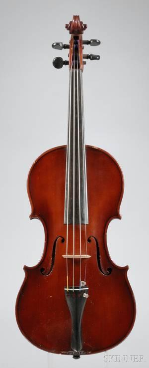 Modern Italian Violin Antonio Lecchi Workshop Cremona 1921