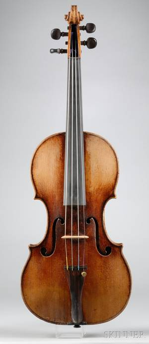 French Violin Probably Caussin Workshop c 1860