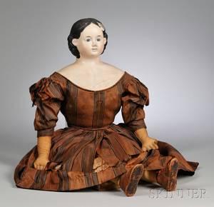 Large Papiermache Greiner Doll