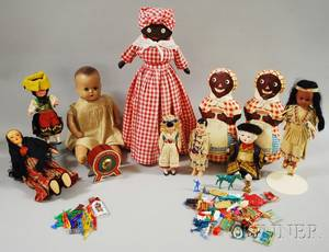 Group of Ten Dolls and Miscellaneous Toy Items