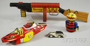 Four Marx Windup Tin Toys