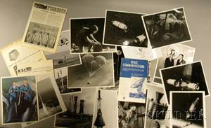 Fifteen Official NASA Photographs Related Three Related Photographs and Ephemera