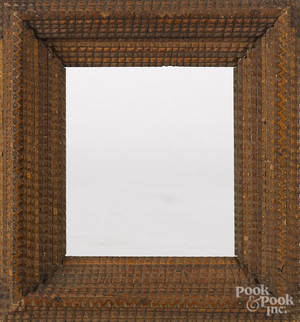 Pair of tramp art frames