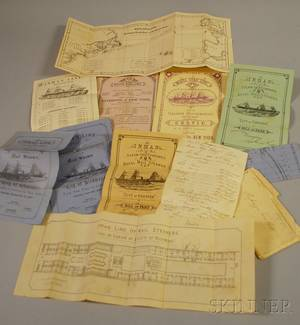Group of 19th Century White Star Line and Inman Steam Ship Co Ephemera