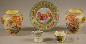 Five Pieces of Assorted Decorated Ceramics