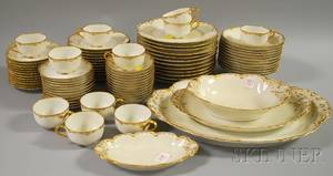 Haviland Limoges Giltrimmed Porcelain Partial Dinner Service