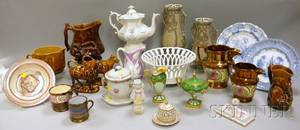 Twentythree Pieces of Assorted Ceramic Tableware and Decorated Table Items