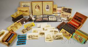 Collection of Stereocards Assorted Photography and Magic Lantern Slides