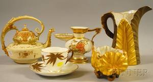 Five Assorted English and European Porcelain Items