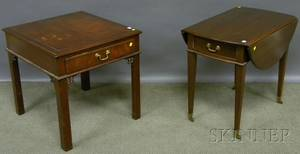 Kittinger Richmond Hill Chippendalestyle Mahogany End Table and a Federalstyle Mahogany Dropleaf Pembroke Table