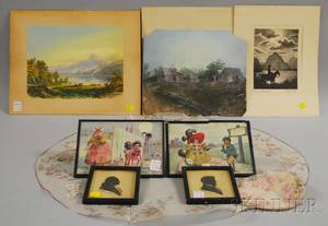 Group of Small Framed and Unframed Works