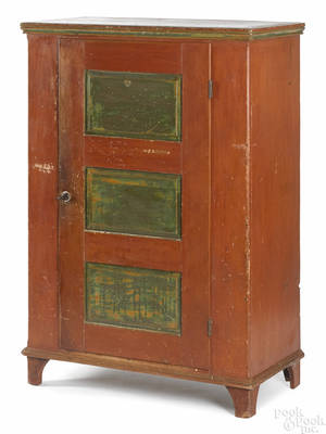 Pennsylvania painted pine canning cupboard early 19th c