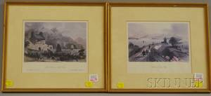 Pair of Framed Engravings of Hong Kong Landscape Views