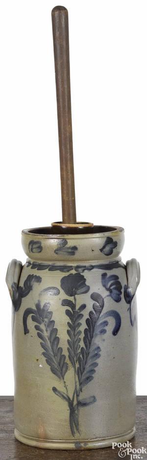 Pennsylvania Remmeytype stoneware churn 19th c