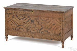 Pennsylvania painted pine blanket chest ca 1830