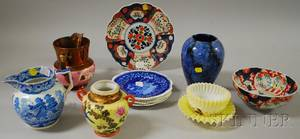 Twelve Pieces of Assorted Ceramics and Two Art Glass Items