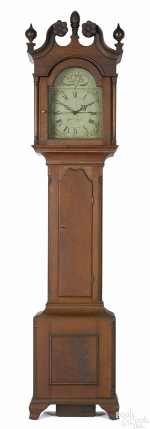 Lancaster County Pennsylvania Chippendale walnut tall case clock ca 1797