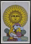 Two Works Carzou Exhibition Poster Galerie Ferrero