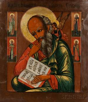 Central Russian Icon of St John the Theologian