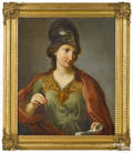 French oil on canvas allegorical figure early 19th c