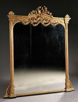 Giltwoodframed Mantel Mirror