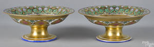 Pair of Russian Imperial porcelain compotes