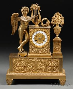 French Giltbronze Mantel Clock