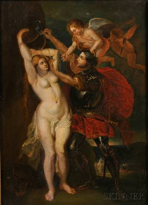 After Peter Paul Rubens Flemish 15771640 Sketch for Henry IV of France Freeing the Goddess of Might and Power