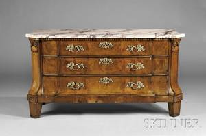 Marbletop Three Drawer Commode