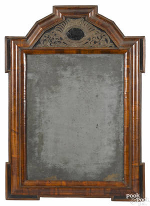 Large Dutch pillow mirror early 18th c