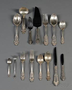 Gorham Medici Pattern Sterling Silver Flatware Service