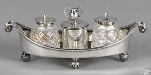 English silver standish 18841885