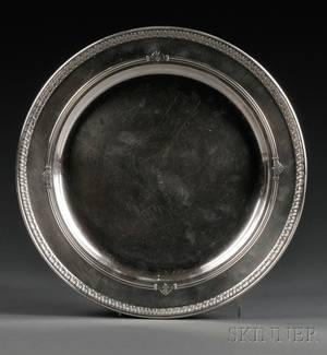 Gorham Shamrock V Pattern Sterling Silver Round Tray